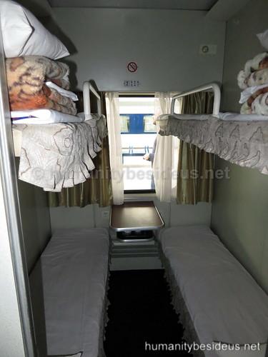 North Korean soft sleeper accomodation