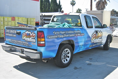 Rancho Pool Service wrap - left/rear