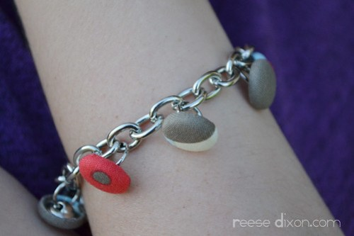 Covered Button Bracelet