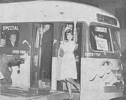 "Miss Press Club on ""Teardrop Trolley,"" March 30, 1963"