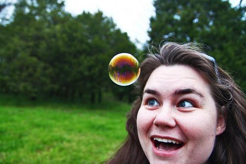 Amanda Blows Bubbles 5 by BenKleppinger