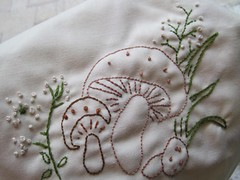 Embroidered Mushrooms and French Knots...Yum!