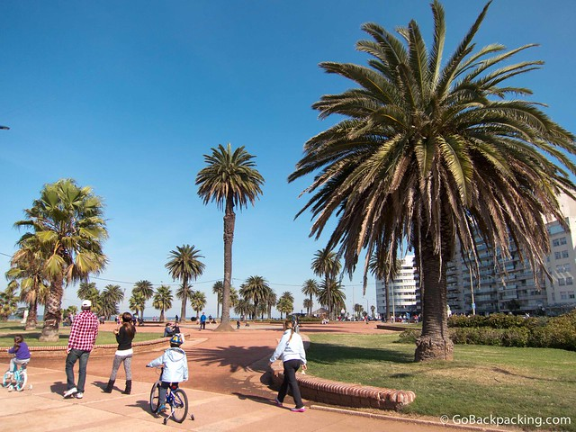 Going for a walk on the Rambla (boardwalk) is popular amongst the locals in Montevideo
