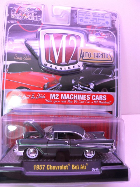 m2 machines autothentics 1957 chevy bel air gray (1)