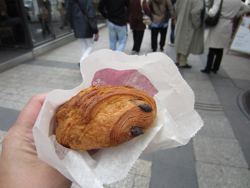 pain au chocolat on the champs elysees