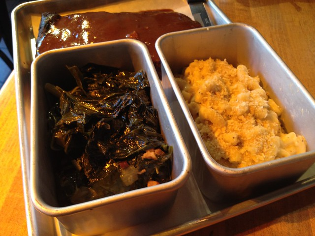 Collard greens and mac 'n' cheese - The Dancing Pig