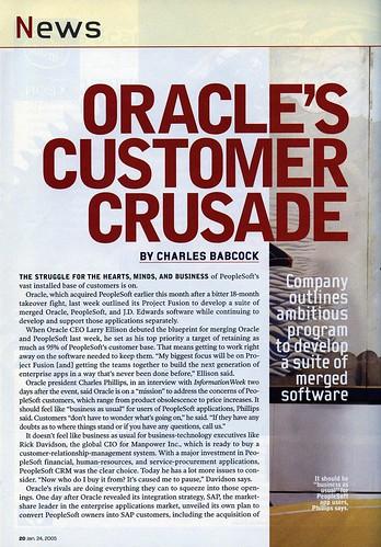Oracle's Customer Crusade