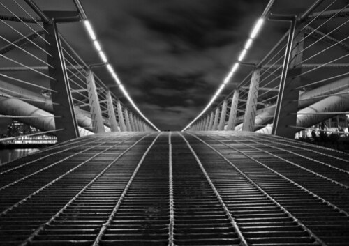 Pedestrian Bridge in B+W