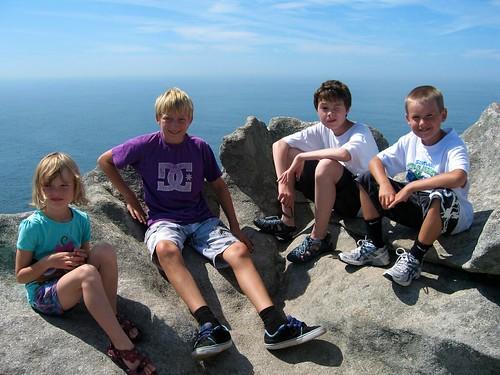 Langturbarna Karen, Andreas, Bendik og Olai er på topptur på Isla Ceis