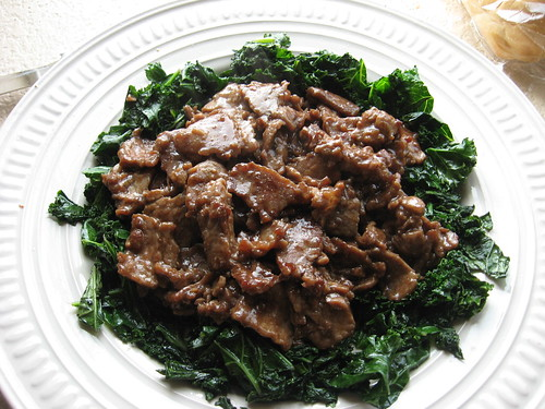 Beef and Kale in Oyster Sauce