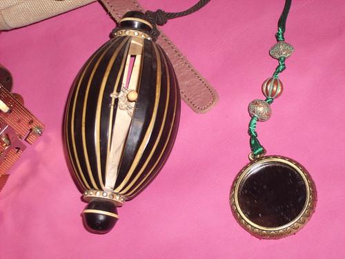 Antique Reticule and Hand Mirror
