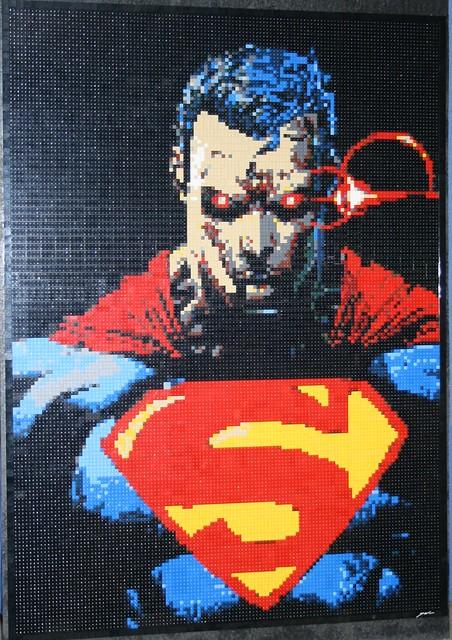 Superman Lego Mosaic
