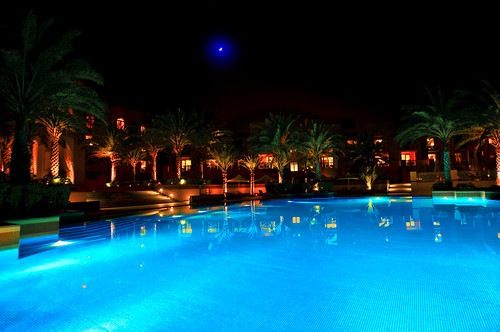 Night shot Al Husn Hotel Muscat Oman
