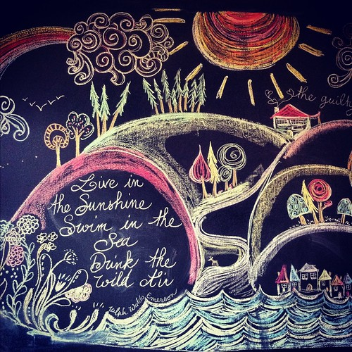 The chalkboard at Artisan Eats, Bowen Island