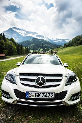 Mercedes Benz GLK exterior in the mountains