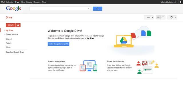Google Drive 02 - Home Page