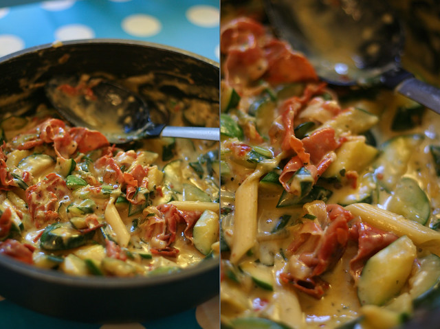 zucchini carbonara nach jamie oliver