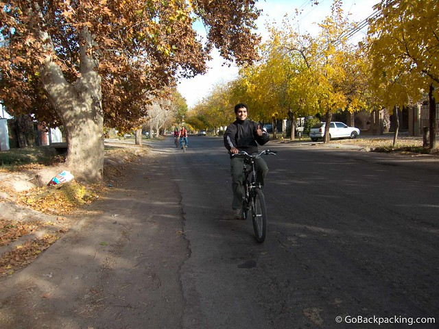 Bicycle wine tour in Mendoza