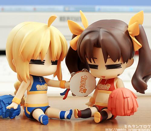 Nendoroid Saber and Tohsaka Rin: Cheerful version