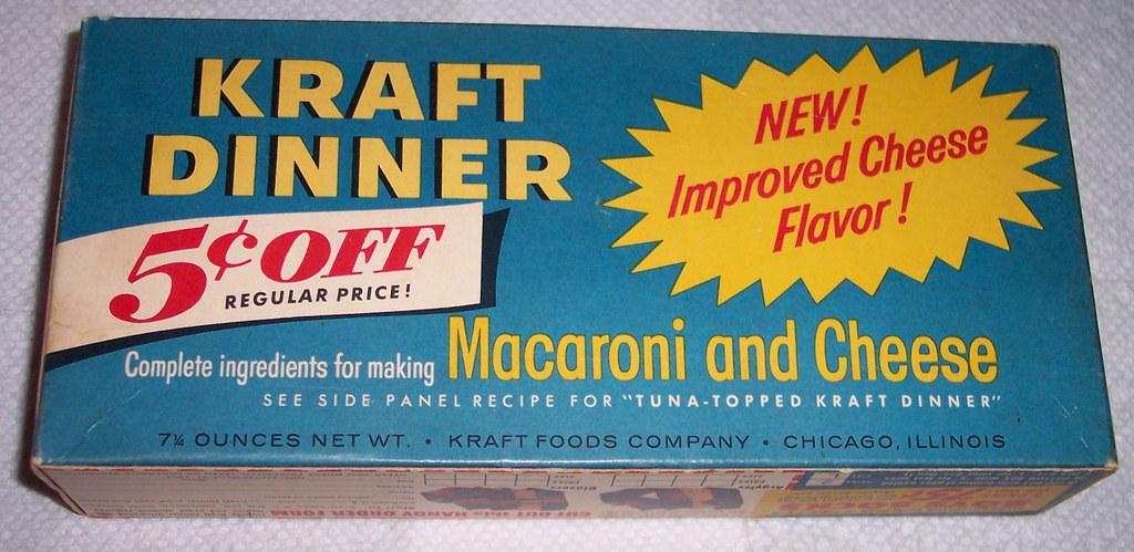 1956 Kraft Dinner - Macaroni and Cheese