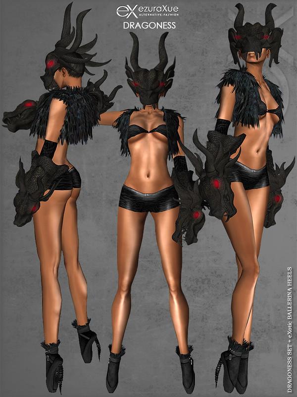 ezura + Dragoness & eXotic Ballerina Heels