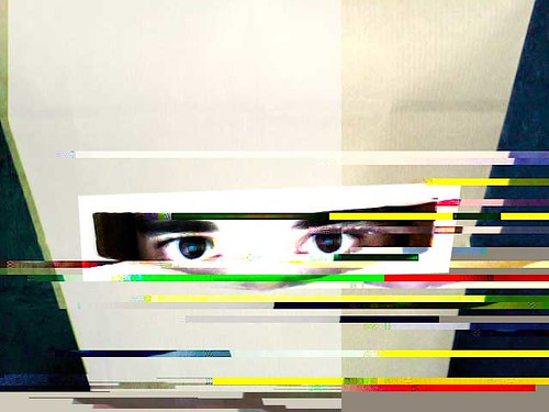 paper burka project meets glitch art V1 by .f_}x{