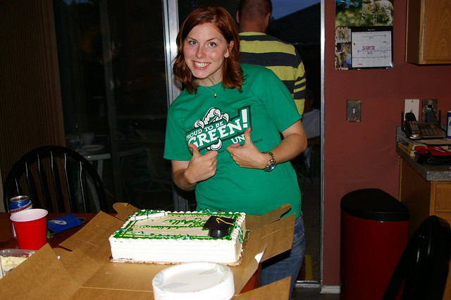 Rachelle About to Cut Her Cake