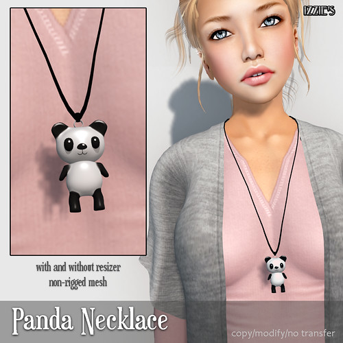 Panda Necklace (Mesh Around Hunt)