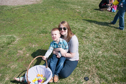 Easter Egg Hunt with my boy
