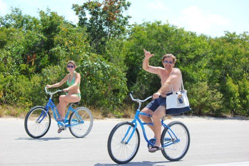 Bike path at Castaway Cay