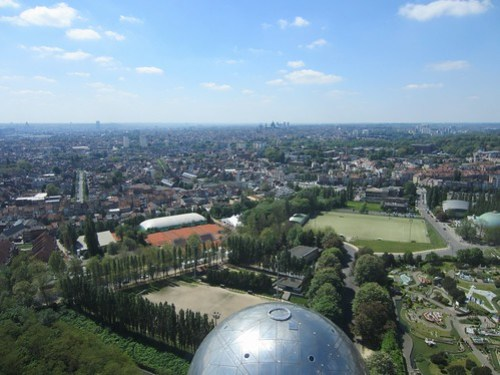 brussels from the atomium