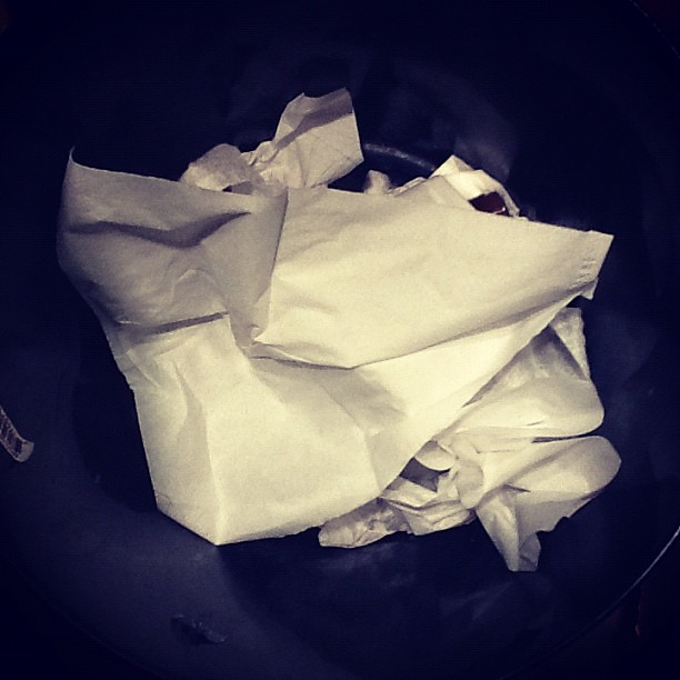 Trash...and I think the husband has a spring cold #marchphotoaday