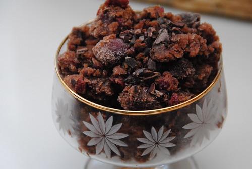 chocolate cherry granita
