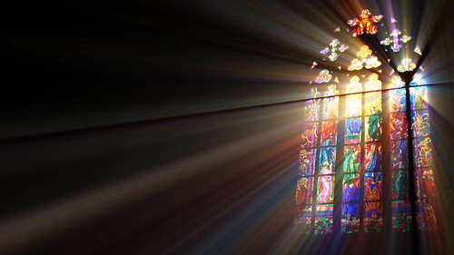 Stained Glass Window Full of Light and Color