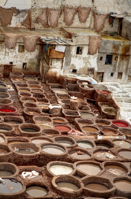 Leather tannery, Fes, Morocco