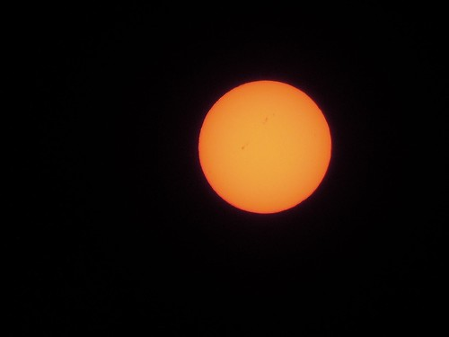 Sunspots Taken With Nikon Coolpix P300 (Cropped)