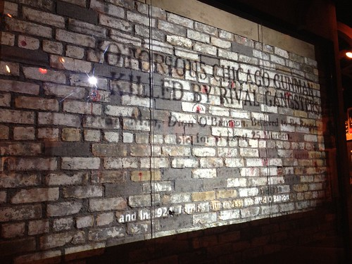 St Valentine's Day Massacre wall at the Mob Museum
