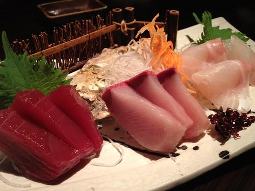 本日の鮮魚のお刺身3種盛@ごだいご 新宿武蔵野ビル店