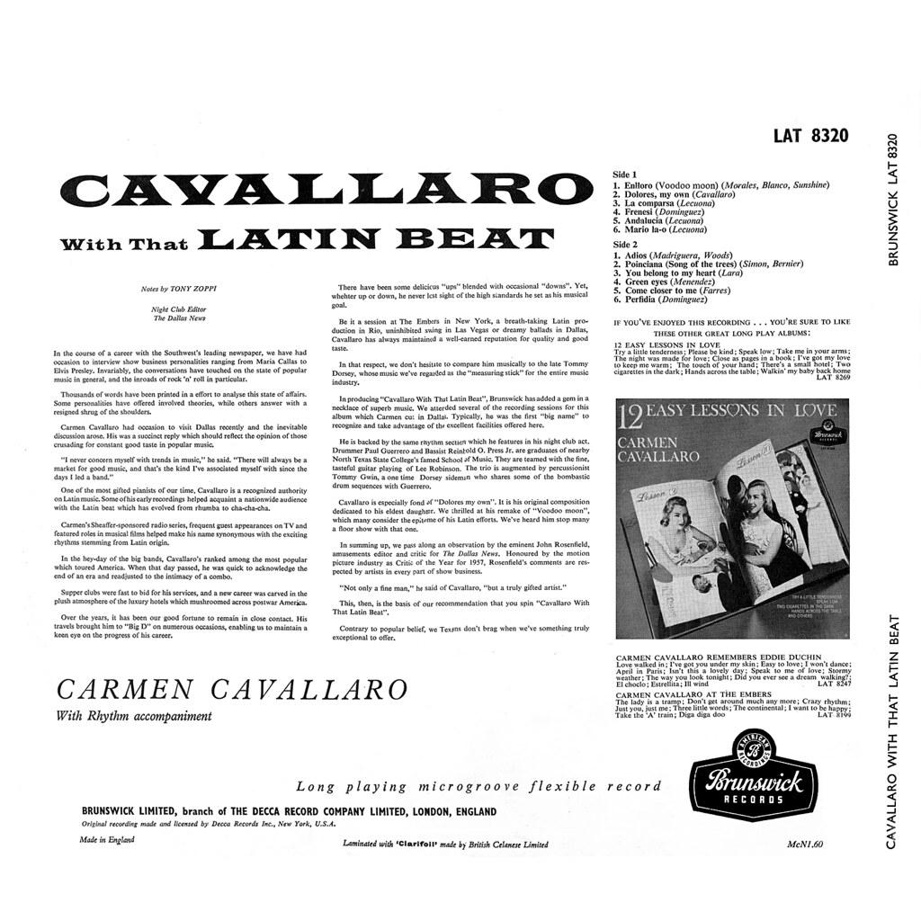 Carmen Cavallaro - With That Latin Beat