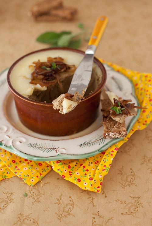 Onion Marmalade with Fig Balsamic Vinegar served over Chicken Liver Pâté