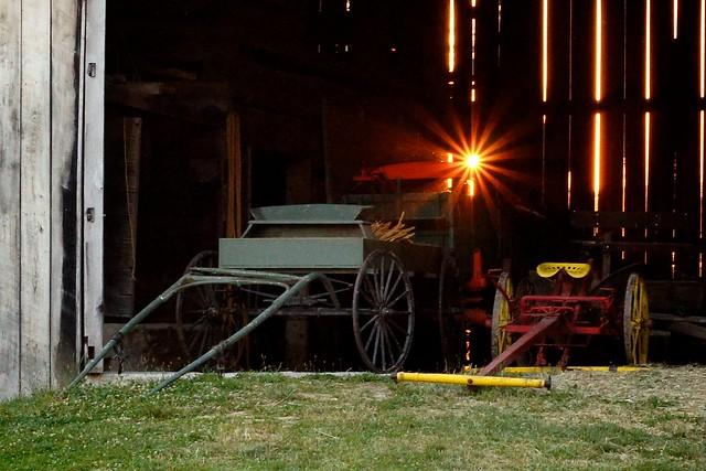 Sunset Through the Barn