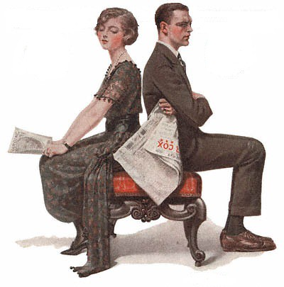 1920-10-09-Saturday-Evening-Post-Norman-Rockwell-cover-Man-and-Woman-Seated-Back-to-Back-no-logo-400-Digimarc