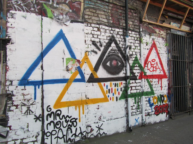 Shoreditch street art - Olympic graffiti