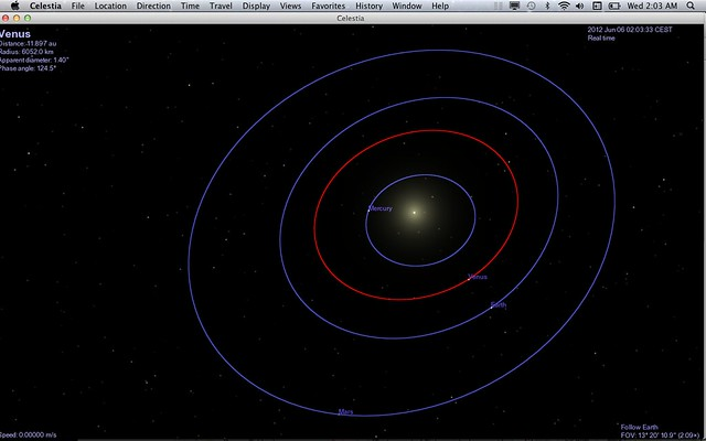 Venus Transit 2012 - Celestia