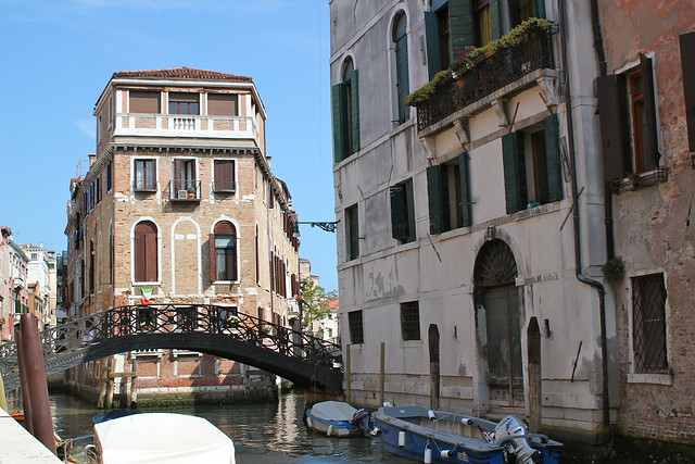Beautiful canals in Venice