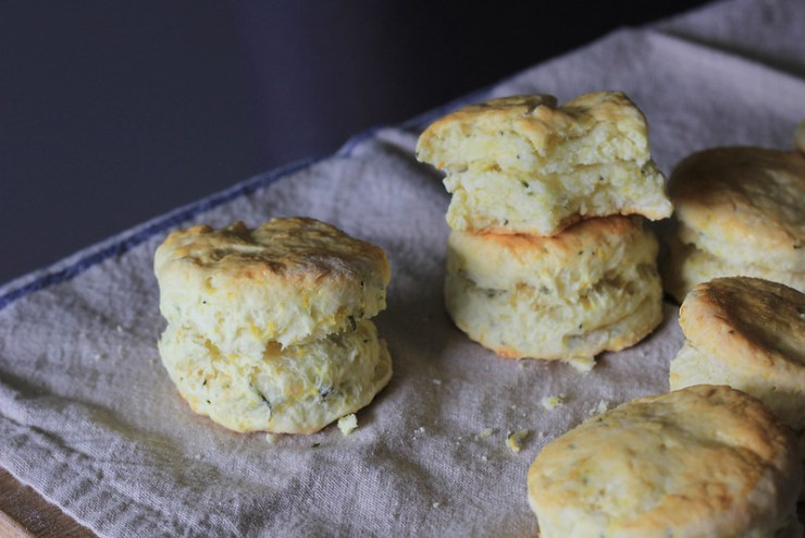Rosemary Orange Cream Biscuits