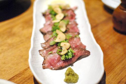 beef tongue tataki