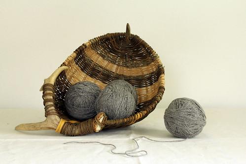 Jen's antler basket for yarn