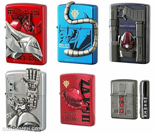 Gundam Lighters by Zippo and Banpresto GundamPH