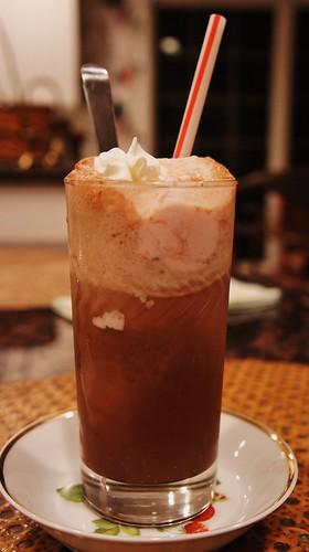 """Black & Pink"" Ice Cream Soda"